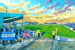 the showgrounds  on matchday